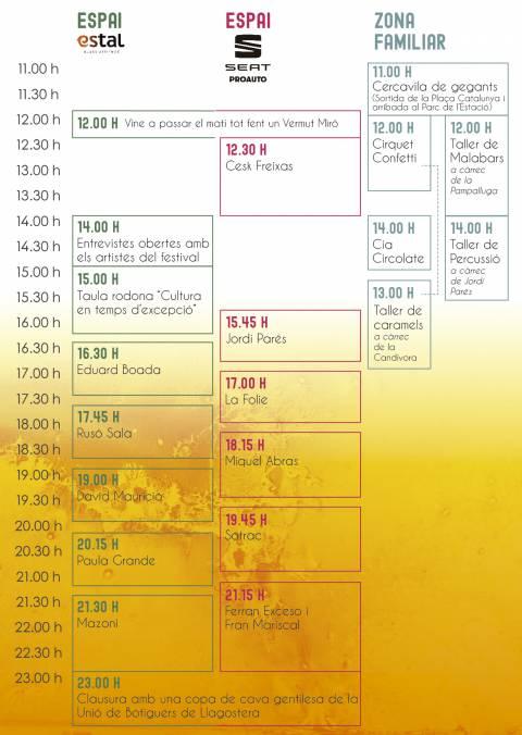 Confirmats els horaris del festival