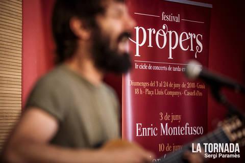 Enric Montefusco a Castell d'Aro. Festival Propers