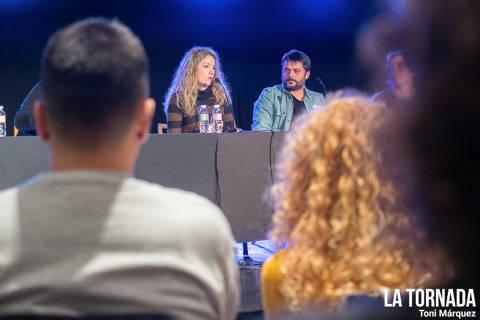 Cristina Torres i Miquel Abras al Soc Autor d'Olot