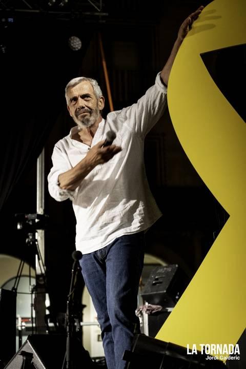 Joan Crosas (Esquirols) al concert de retorn de Duble Buble a Manlleu