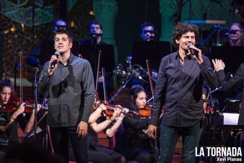 Eduard Costa i Dani Alegret (Els Amics) al Palau